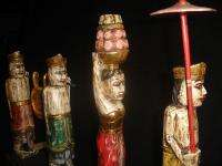 MELASTI Balinese figures Bali FOLK ART Statue Hand Carved wood