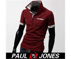 SEXY Men Stylish Classic Casual Polo Shirts Solid Short sleeve tops T