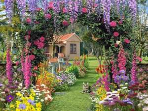 BARNES & NOBLE  Cottage Garden   300 piece Large Format puzzle by