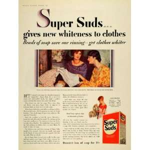 Ad Pour Super Suds Soap Beads Washing Dishes Soap   Original Print Ad