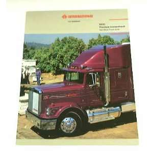 87 International 9300 Semi Truck BROCHURE Navistar