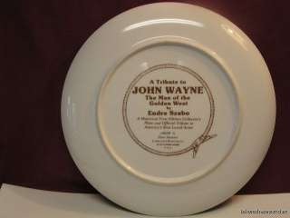 Vintage 1979 A Tribute to John Wayne Collector Plate Endre Szabo