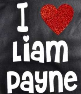 LOVE LIAM PAYNE BLACK SCHOOL/COLLEGE MESSENGER BAG