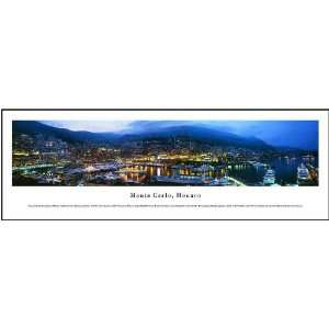 Monte Carlo, Monaco Panoramic View Framed Print: Home