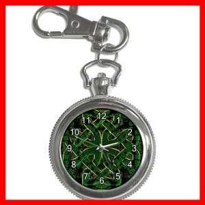 CELTIC CROSS Irish Cross Silvertone Key Chain Watch