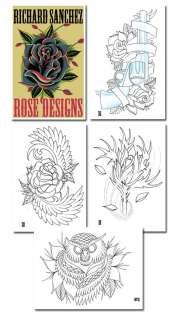 Tattoo Supplies sketch book Richard Sanchez Roses