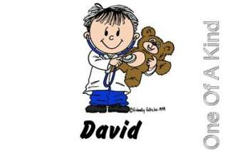 Custom Personalized Mouse Pad Doctor Dentist Cartoon
