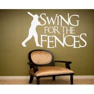 Swing for the Fences Sports Hobbies Outdoor Vinyl Wall Decal Sticker