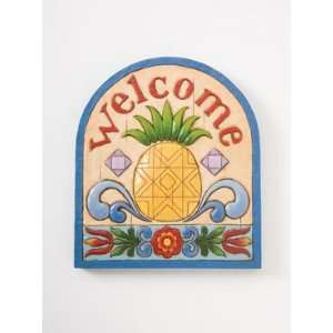 Enesco Jim Shore Outdoor Garden Plaque Pineapple NEW