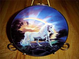 The Rainbow Diamond Unicorn Franklin Mint Horse Plate