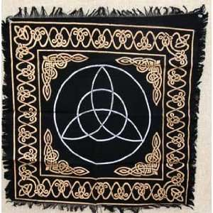 Triquetra Altar or Tarot Cloth Scarf Wiccan Wicca Pagan