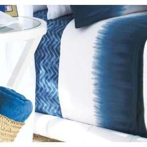 by Ralph Lauren Bedding Indigo Modern Tie Die Border TWIN Flat Sheet