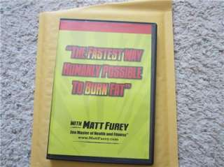 Fastest Way to Burn Fat DVD Set Matt Furey Conditioning