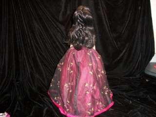 MADAME ALEXANDER FUSHIA DRESS GOWN black red pink