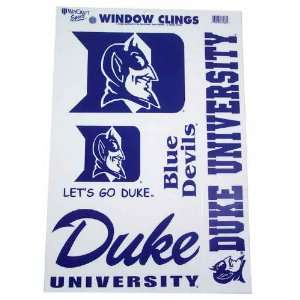 DUKE BLUE DEVILS OFFICIAL LOGO 11X17 ULTRA DECAL SET (5