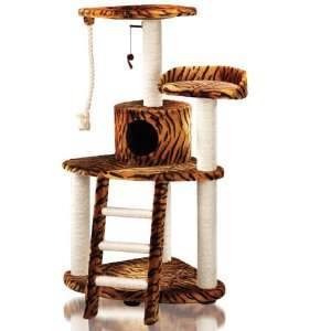 Tiger Stripe Cat House Tree Condo Kitchen & Dining