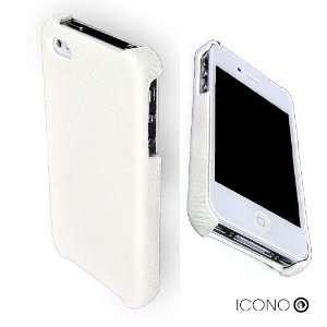 ICONO APERTUS White Slim Genuine Leather Open Top Case for