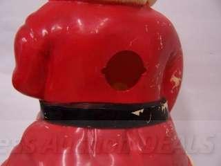Large Hard Plastic Santa 17 Vintage Christmas Rosbro?