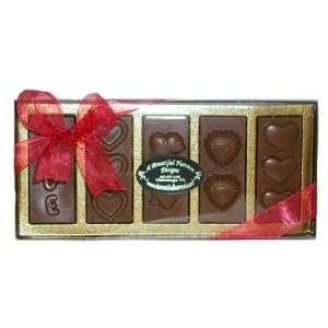 Valentines Day 5 pc LOVE Sugar Free Belgian Milk Chocolate Bars