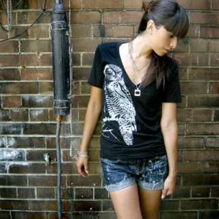 zebra tee brand new american apparel low cut t shirt with my large owl