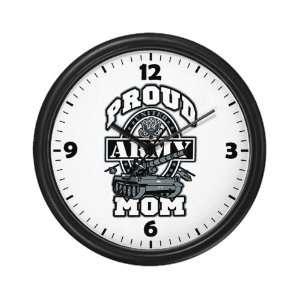 Wall Clock Proud Army Mom Tank