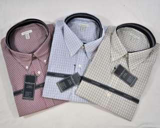 NEW Van Heusen Mens L/S Button Plaid Dress Shirt