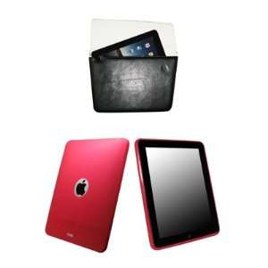 EMPIRE Apple iPad Hot Pink Poly Skin Case + Black