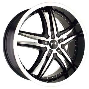 18x7.5 Mazzi Smoke (375) (Black w/ Machined Face & Lip) Wheels/Rims