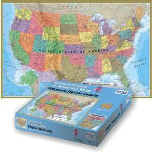 United States Of America Map 500 Large Size Pieces Toys
