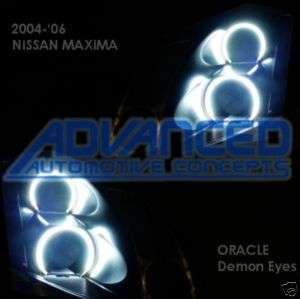04 06 Nissan Maxima Headlight HALO Angel/Demon Eyes Kit