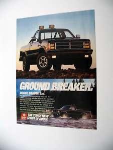 1989 Dodge Dakota 4x4 Pickup Truck print Ad