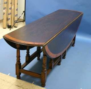 Antique Style Irish Wake Solid Oak Gateleg Dining Table