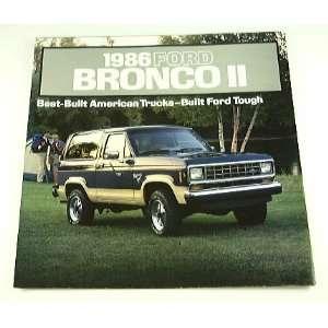 1986 86 Ford BRONCO II Truck BROCHURE XLT Eddie Bauer