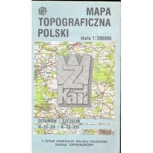 Map Mapa Topograficzna Polski Poland none Books