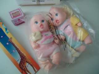 GERBER BIRTHDAY BABY TWINS LUCKY DOLLS NEW W CLOTHES 92