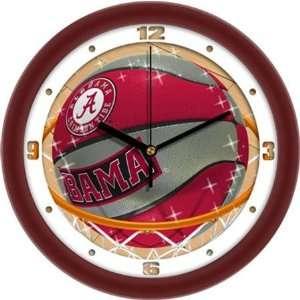Alabama Crimson Tide UA NCAA 12In Slam Dunk Wall Clock