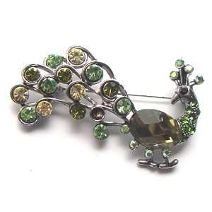 Rhinestone Peacock Bird Fashion Costume Jewel Pin Brooch Jewelry