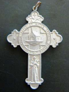 ART NOVEAU CROSS CRUCIFIX ST FRANCIS ASSISI