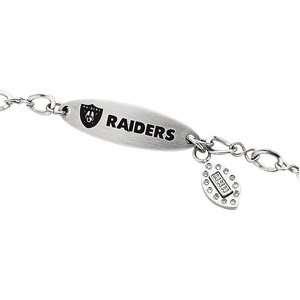 Oakland Raiders Team Name and Logo Bracelet   7.5 Katarina Jewelry