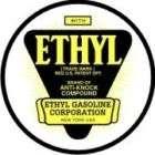 Vintage Ethyl Gasoline Cars sticker decal sign 3 dia.