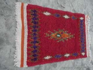 Moroccan Hand Woven Berber Rug Atlas Mountains Morocco