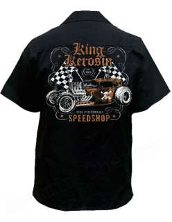 Speed Shop Work Shirt Rockabilly Punk New Hot Rod Tattoo Retro