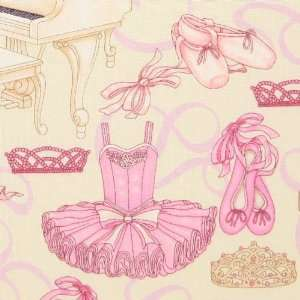 RJR Bella Ballerina Ballet Studio Cream Fabric Yardage