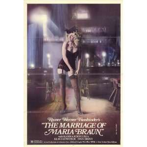 Marriage of Maria Braun Movie Poster (27 x 40 Inches