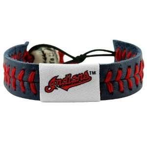 Cleveland Indians Navy Blue Baseball Bracelet