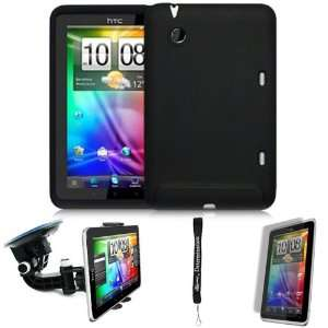 Black Cover Protective Slim Durable Silicon Skin Case for HTC Flyer