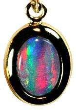 Gold Dangle Earrings Red Green Blue Australian multicolor opala