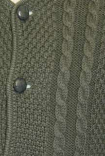 LODEN GREEN ~ BOILED WOOL Men AUSTRIA Winter Hunting SWEATER Jacket