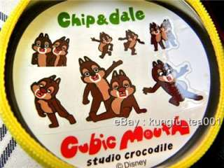 Cubic Mouth Chip n Dale Tin Coin Bag Case w Stickers