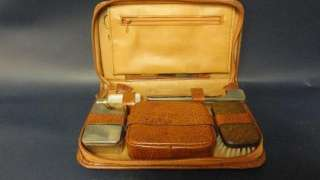 VINTAGE LEATHER MENS TRAVEL BAG OR CASE MADE IN WEST GERMANY INCLUDES